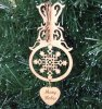 Snowflake Christmas Ornament 1 3D Wood Christmas Ornaments