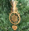 Snowflake Christmas Ornament 2 3D Wood Christmas Ornaments