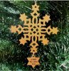Snowflake Christmas Ornament Wood Christmas Ornaments