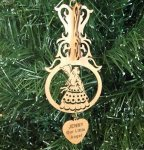 Angel Christmas Ornament 4 3D Wood Christmas Ornaments