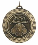Spinner Medal - Perfect Attendance Academic Medals