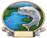 Fishing 3D Oval Trophy (Female) All Trophy Awards