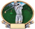 Golf 3D Oval Trophy (Female) All Trophy Awards