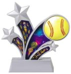 Softball Holographic Rising Star Trophy All Trophy Awards