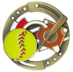 Color Star Medal - Softball Baseball Medals