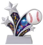 Baseball Holographic Rising Star Trophy Baseball Trophies