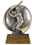 Baseball 3D Motion Trophy (Male) Baseball Trophy Awards