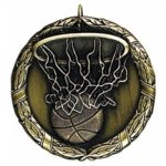 Wreath Medal - Basketball Basketball Medals