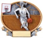 Basketball 3D Oval Trophy (Female) Basketball Trophy Awards