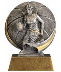 Basketball 3D Motion Trophy (Female) Basketball Trophy Awards