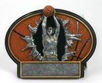 Basketball Burst Thru Trophy (Female) Basketball Trophy Awards