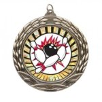 Wreath Insert Medal - Bowling Bowling Medals