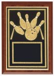 Plaques - Corporate Plaque Bowling Trophy Awards