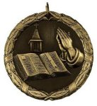 Wreath Medal - Christian Bible Christian Medals