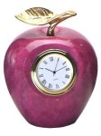 Red Apple Clock Clocks - Desk
