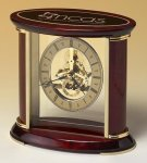 Skeleton Clock with Brass and Rosewood Piano Finish Clocks - Desk