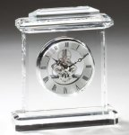 Clock Crystal Award Clocks - Mantle