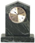 Jade Marble Cathedral Clock Clocks - Mantle