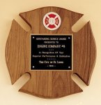 Maltese Cross Fireman Award Fire and Safety Plaques