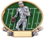 Football 3D Oval Trophy Football