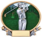 Golf 3D Oval Trophy (Male) Golf Awards