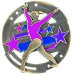 Color Star Medal - Female Gymnist Gymnastics Medals