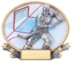Hockey 3D Oval Trophy Hockey
