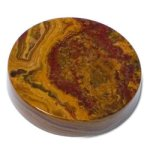 Swirl Amber Onyx Round Paperweight Marble Awards