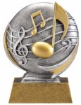 Music 3D Motion Trophy Mascot Awards