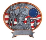 Legend Minute Man Oval Award Military Trophies