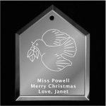 Dove Christmas Ornament 2 Mirror Christmas Ornaments | House