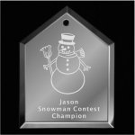 Snowman Christmas Ornament Mirror Christmas Ornaments | House