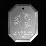 Dove Christmas Ornament 2 Mirror Christmas Ornaments | Octogon