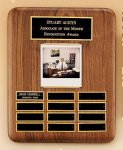 American Walnut Photo Perpetual Plaque Monthly Perpetual Plaques