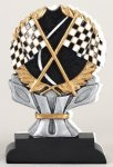 Racing Flag Impact Trophy Motorcycle Trophies