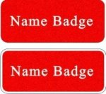 Scratch Resistant Name Badge with Rounded Corners Name Badges