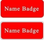 Name Badge with Rounded Corners Name Badges