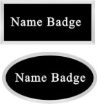 Silver Framed Oval Name Badge Name Badges
