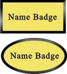 Black Framed Name Badge Name Badges