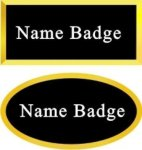 Gold Framed Name Badge Name Badges