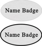 Oval Name Badge Name Badges