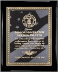 Ebony Plaque - US Flag Patriotic Awards