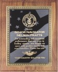 Walnut Plaque - US Flag Patriotic Awards