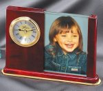 Rosewood Clock Picture Frame Photo Gifts & Frames