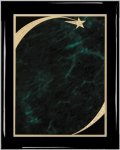 Ebony Plaque - Green Star Sweep Piano Finish Ebony Plaques