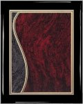 Ebony Plaque - Sienna Swirl Piano Finish Ebony Plaques