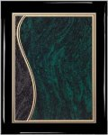 Ebony Plaque - Green Swirl Piano Finish Ebony Plaques