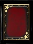 Ebony Plaque - Red Star Achievement Piano Finish Ebony Plaques