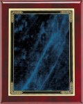 Rosewood Plaque - Blue Marble Mist Piano Finish Rosewood Plaques