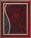 Rosewood Plaque - Sienna Swirl Piano Finish Rosewood Plaques